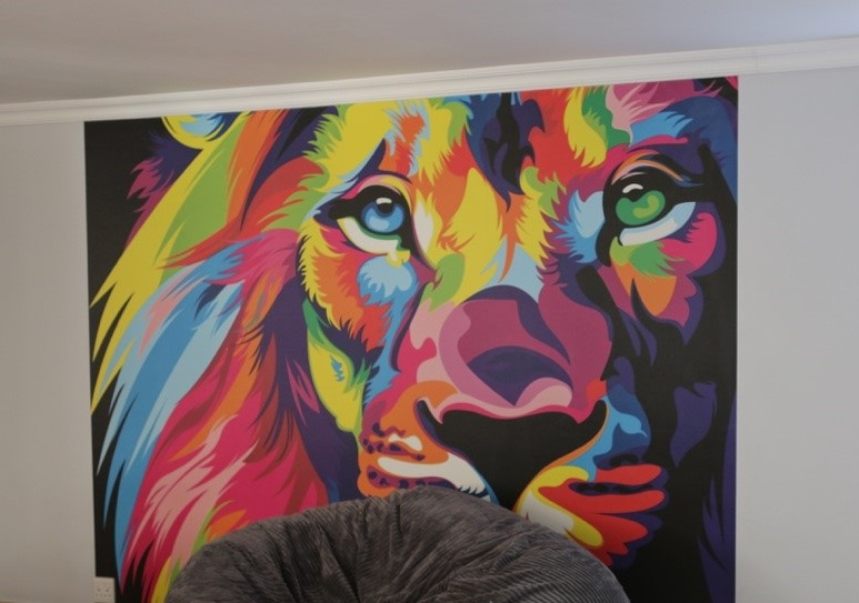 Project Magaliessig - Lion Mural Wallpaper M805
