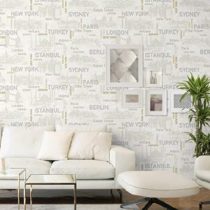 City Names Typography Pattern Wallpaper (1608)