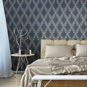 Classic Diamond Shaped Ornament Wallpaper (1610)