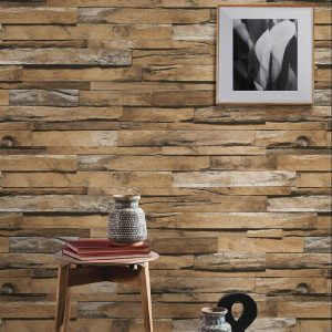 Volumetric Wooden Tiles Patterns Wallpaper (1612)