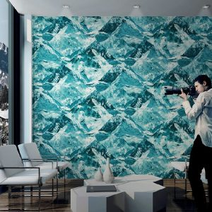 Mountains Motif Inspired Modern Bold Wallpaper (1622)