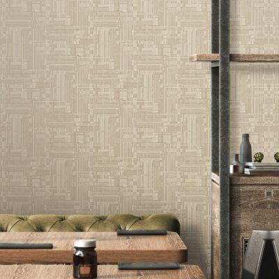 Abstract Stylised Woven Modern Pattern Wallpaper (3703)