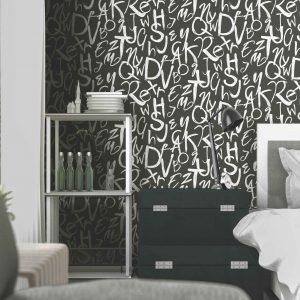 Typography Modern Pattern Wallpaper (4702)