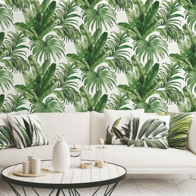 Palm Leaves and Tropical Jungle Inspired Wallpaper (4714)