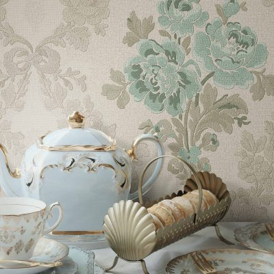 Classic Floral Damask Ornamental Wallpaper (5802)