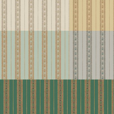 Classic Delicate Striped Ornamental Wallpaper (5808)