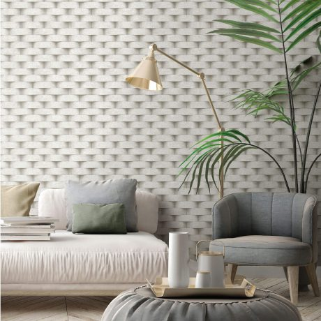 3D Rounded Brick Wall Pattern Wallpaper (7814)