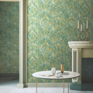 Flowers and Leaves Ornamental Wallpaper (4713)