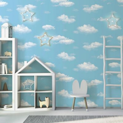 Blue Sky with Clouds Kids Wallpaper (8904)