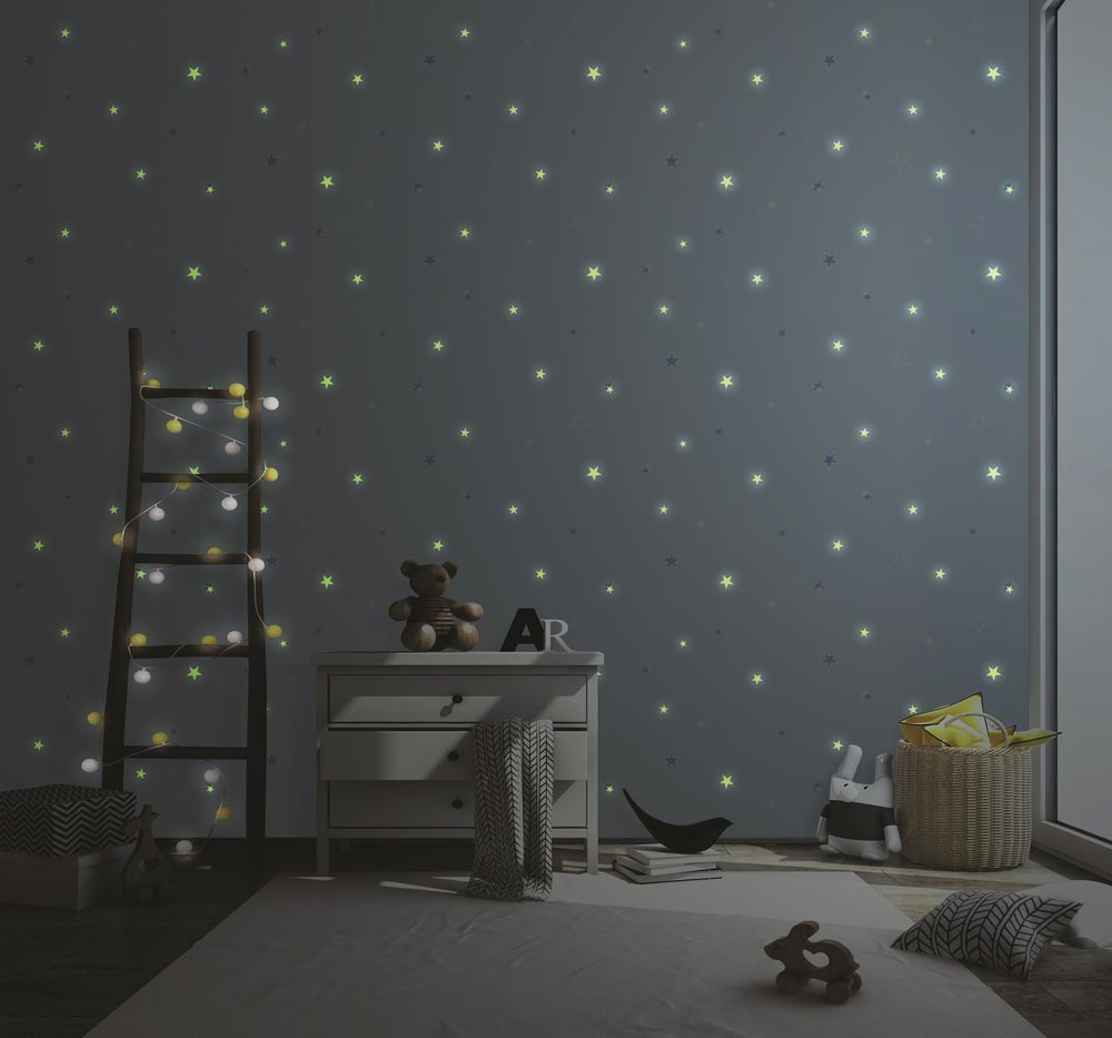 Glow In The Dark Wallpaper And Citrus Colours Wallsense