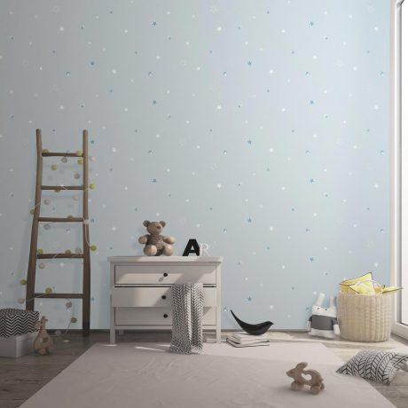 Glow in the Dark Star Covered Kids Wallpaper (8913)