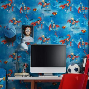 Superman Design Kids Wallpaper (8914)