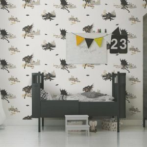 Batman Light Coloured Kids Wallpaper (8918)