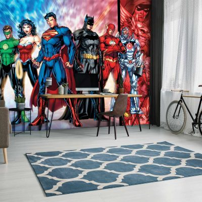 Justice League Mural Wallpaper WB2036
