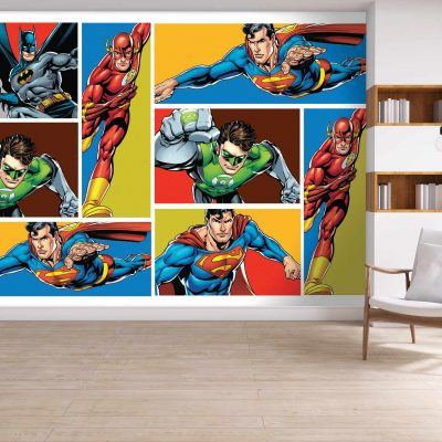 Justice League Mural Wallpaper WB2041
