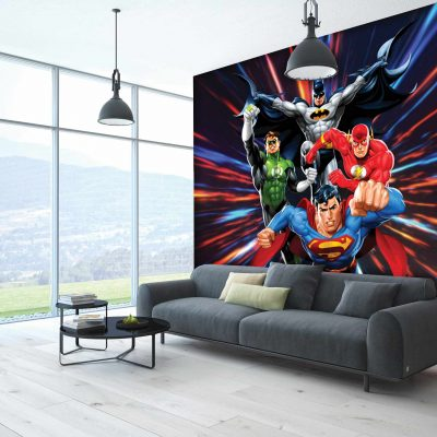 Justice League Mural Wallpaper WB2055