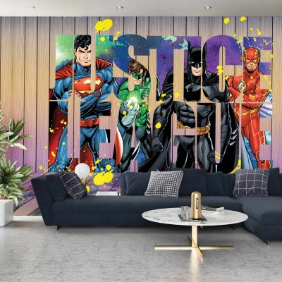 Justice League Mural Wallpaper WB2056