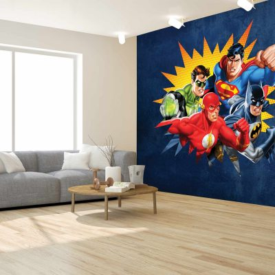 Justice League Mural Wallpaper WB2063