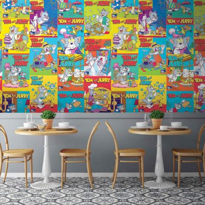 Tom and Jerry Mural Wallpaper WB2088