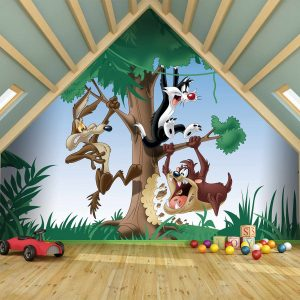 Looney Tunes Mural Wallpaper WB2099