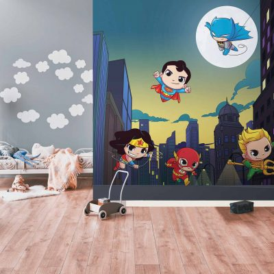 DC Super Friends Kids Mural Wallpaper WB2157