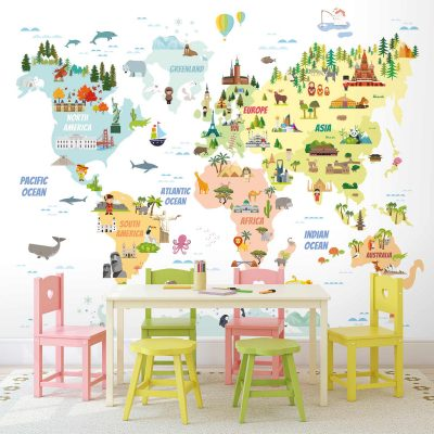Map Mural Wallpaper WB2173