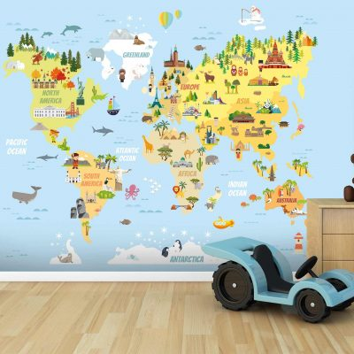 Map Mural Wallpaper WB2174