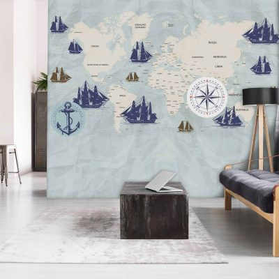 Map Mural Wallpaper (M1027)