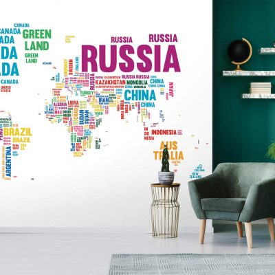 Map Mural Wallpaper (M910)