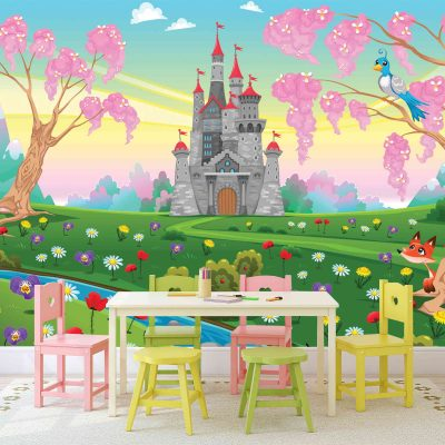 Castle Kids Mural Wallpaper (M1033)