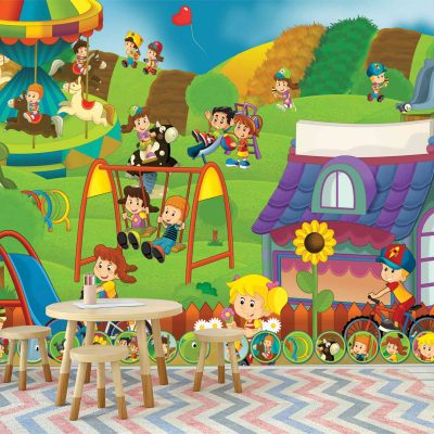 Playground Kids Mural Wallpaper (M1039)