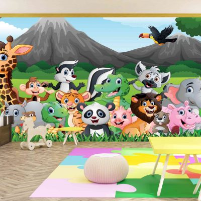 Animals Kids Mural Wallpaper (M1041)