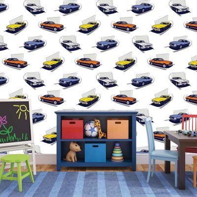 Cars Kids Mural Wallpaper (M948)