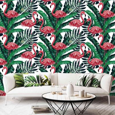 Flamingo Mural Wallpaper (M1006)