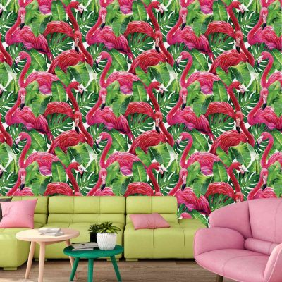 Flamingo Mural Wallpaper (M1014)