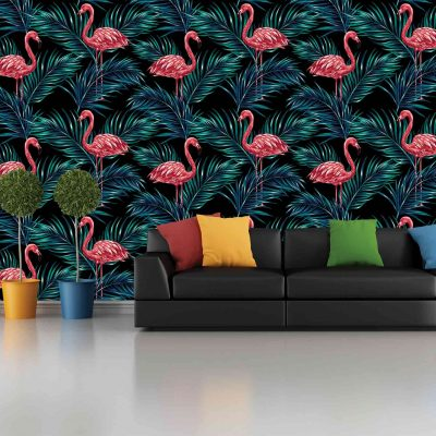 Flamingo Mural Wallpaper (M812)