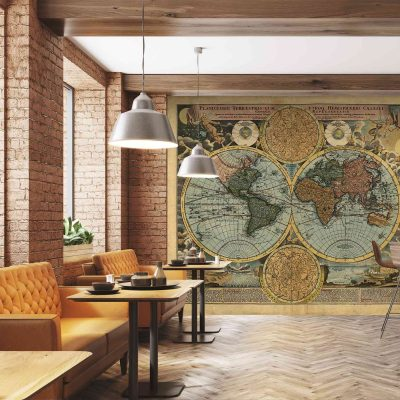 Map Mural Wallpaper (M901)