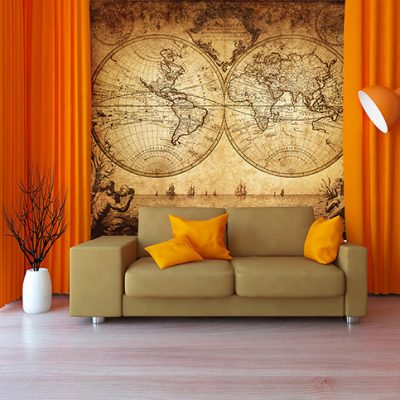 Map Mural Wallpaper (M902)
