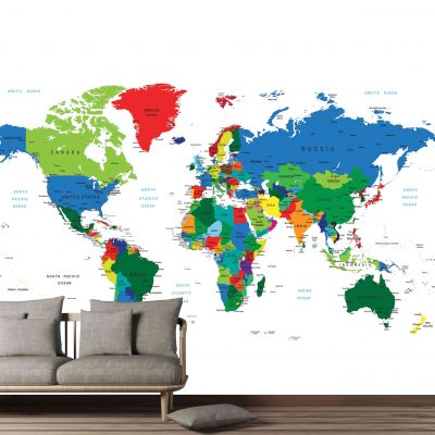 Map Mural Wallpaper (M906)