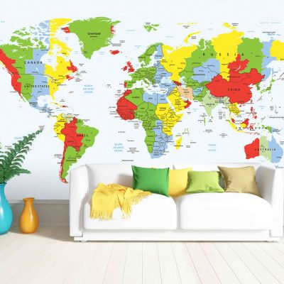 Map Mural Wallpaper (M907)