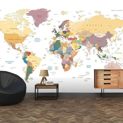 Map Mural Wallpaper (M908)